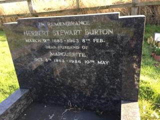 Herbert Stewart Burton grave